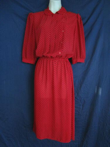 80s FUCHSIA CHIFFON dress M L  bow tie collar sheer secretary dress blouson bodice romantic midi dress matching belt medium large 1980s