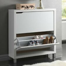 Baxton Studio Simms White Modern Shoe Cabinet -FP-2OUS-White FP-2OUS-WHITE NEW