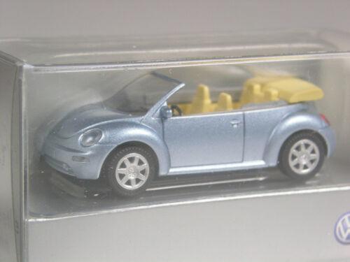 sehr hübsch Wiking Werbemodell VW Beetle Cabrio eisblau metallic in OVP