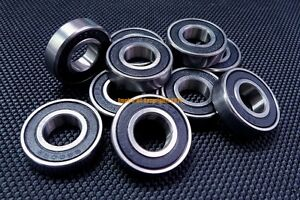 "10PCS R4-2RS 1//4/""x 5//8/""x 10//51/"" inch Deep Groove Ball Bearing Sealed Z2 Bearings"