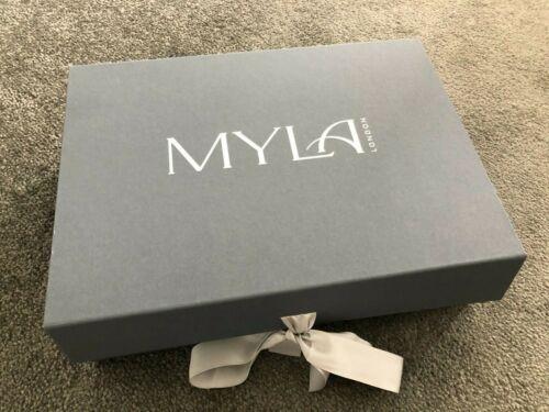 Myla Heritage soie Non Rembourré Soutien-gorge en marbre//granite rose 36D BNWT-RRP £ 110