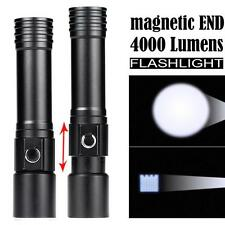 5W Zoomable Magnetic END CREE Q5 LED Flashlight Waterproof Torch Light 18650 New