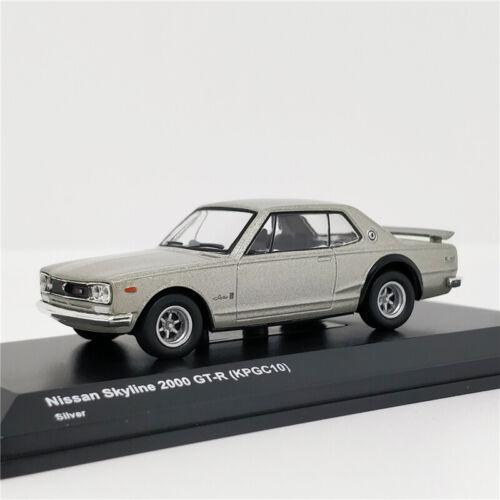 KYOSHO SKYLINE 1//64 NISSAN 2000GT-R Diecast Car Model Silver