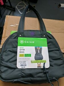 Gaiam Metro Gym Yoga Mat Bag Gray Purple Tote Travel Bag Ebay