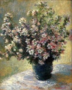 Vase-of-Flowers-Claude-Monet-Impressionism-Art-Canvas-Print-Cotton-Canvas-8x10