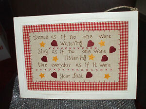 WOOD amp EMBROIDERED PICTURE NEW SHABBY CHIC WITH WORDING REALLY PRETTY COTTAGE - <span itemprop='availableAtOrFrom'>Sheffield, United Kingdom</span> - WOOD amp EMBROIDERED PICTURE NEW SHABBY CHIC WITH WORDING REALLY PRETTY COTTAGE - Sheffield, United Kingdom