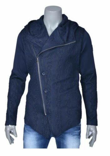 met Avant Herensweater asymmetrisch en vest hooded vest garde rits Mondo PwH5YH