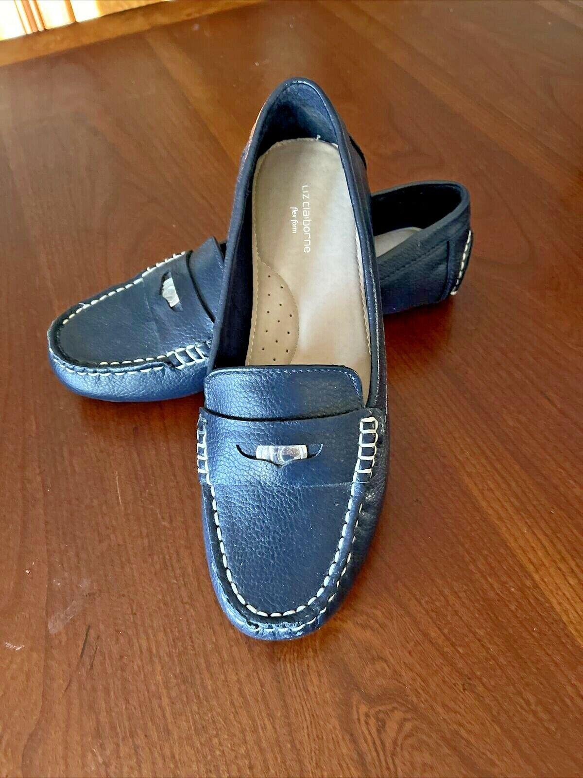 Liz Claiborne Flex Form Black Penny Loafers Size US 8 Career Women's Flats