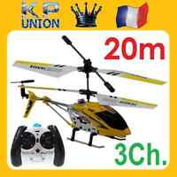 Helicoptere Radiocommande Rc Tres Maniable En Metal 3.5ch S107g Idee Cadeau 48h