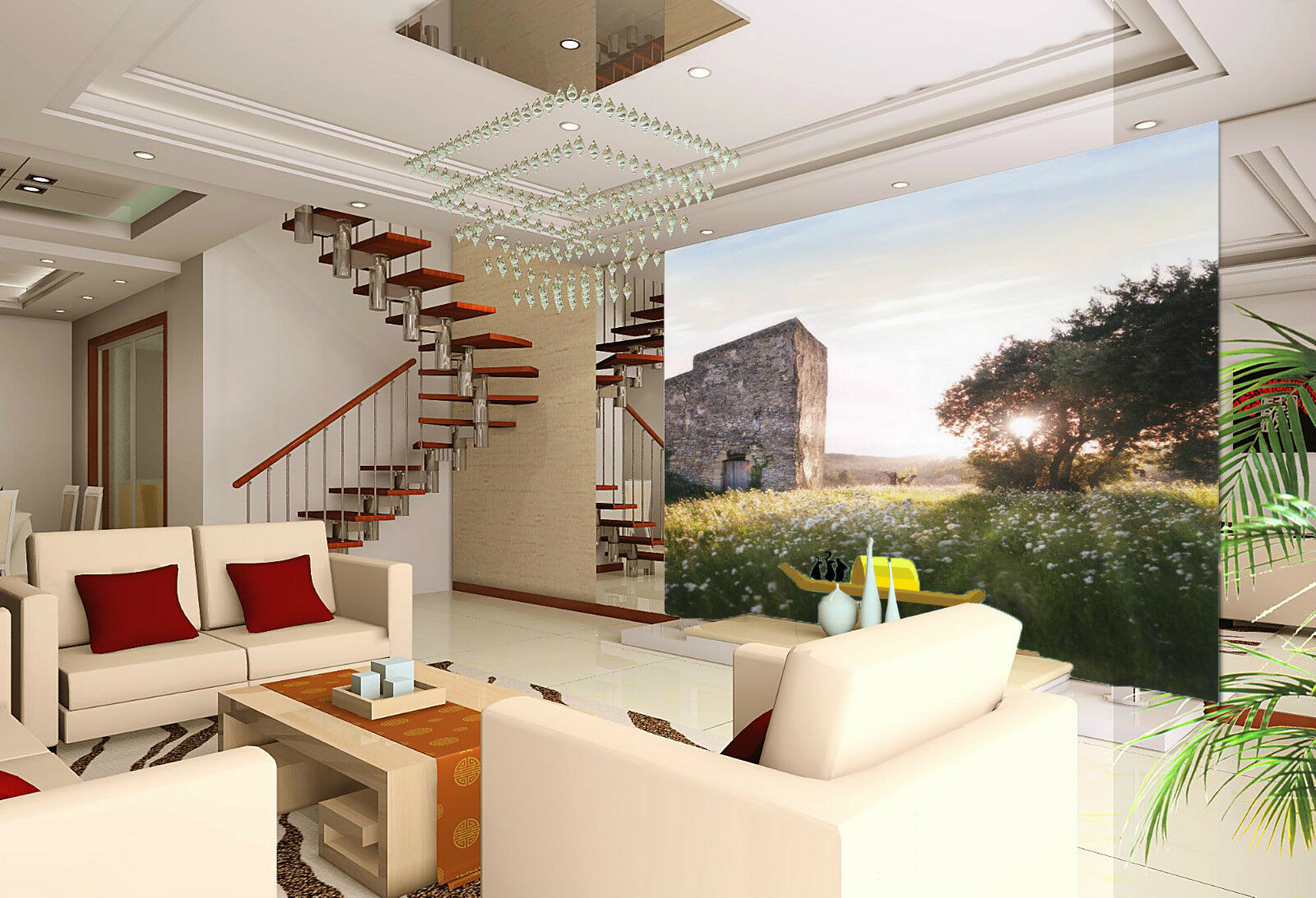 3D Mega Wilderness Stone House247 Wall Paper Wall Print Print Print Decal Wall AJ Wall Paper 95499b