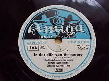W/8/13 Schellackplatte In der Näh`vom Ammersee Cornel-Trio Kurt Henkels Oberland