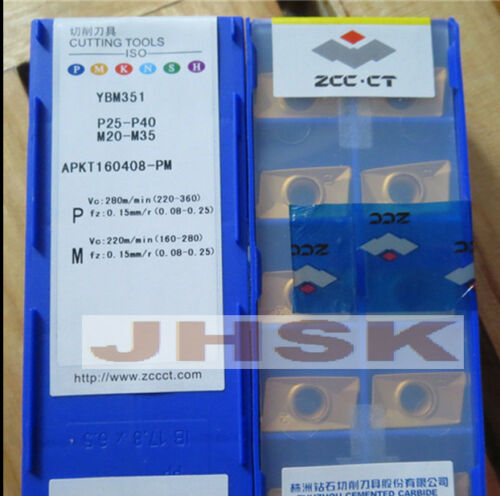 10pcs  ZCC.CT  APKT160408-PM YBM351 Carbide Insert  Carbide bits