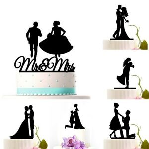 Cake-Topper-Mr-Mrs-Bride-Groom-Anniversary-Wedding-Party-Favour-D