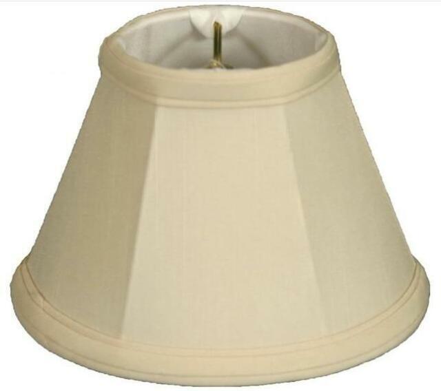 Royal Designs Bell Chandelier Lamp Shade Inc CS-207EG-6 Eggshell Set of 6 Size 5