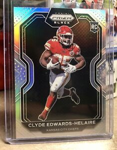 2020 Panini Chronicles Clyde Edwards-Helaire Rookie RC Prizm Black SILVER
