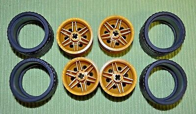 Tires - 37 x 22 Lego Tires with Gold Rims NEW ~ Truck 4 SUV or Car tires