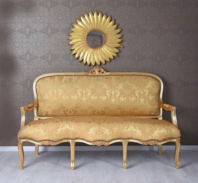 Sofas, Armchairs & Suites Giant Sofa Rococo Style Bench Royal Sofa Wood Baroque French Louis Xv Carved Furniture