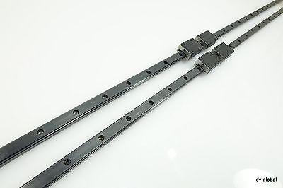 LS20AL+1610mm 2Rails 4Blocks USED NSK LM GUIDE THK SR20W Lightweight motion