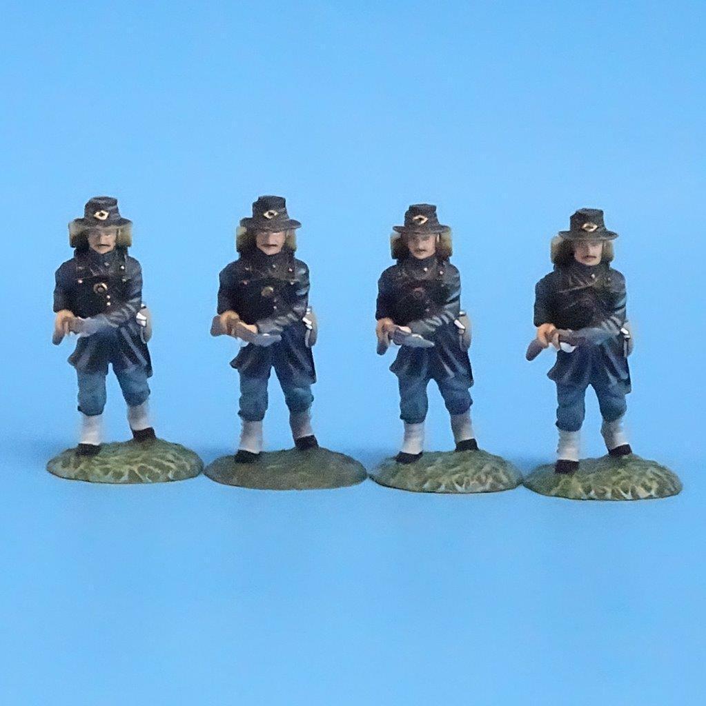 CORD-091 - Iron Brigade Advancing (4 Figures) - ACW - Frontline - 54mm Metal