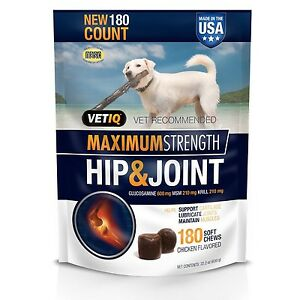 VetIQ Hip & Joint Soft Chew Treats for Dogs 22.2 oz