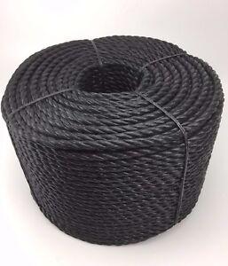 8mm-Negro-Polipropileno-Cuerda-x-220m-BOBINA-espirales