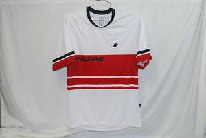 Hincapie-Homme-Velo-Jersey-XL-Extra-Large-Velo-de-route-Rouge-Blanc-Loose-Mountain-Bike