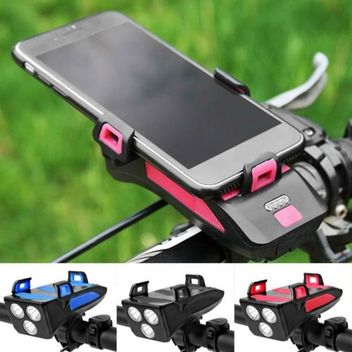 4 in 1 Waterproof Bicycle Light with Bike Horn//Phone Holder//Power Bank USA