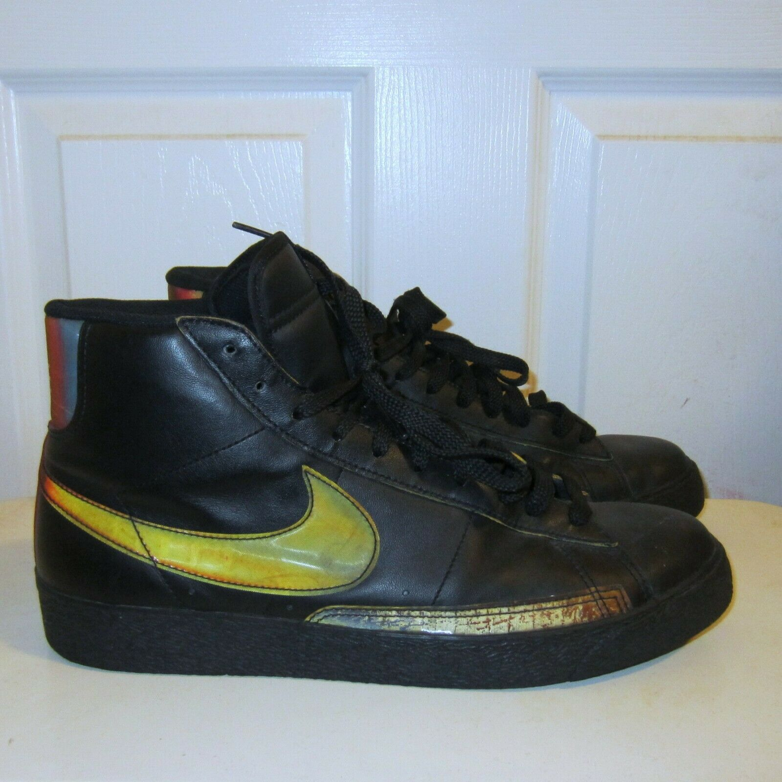 "Nike Black Blazer Hi Premium ""Playstation 3"" Mens Sneaker shoes Sz 11 Defect"
