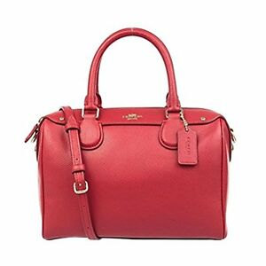 Coach-Bag-F36624-Mini-Bennet-Satchel-Crossgrain-Leather-Red-Agsbeagle