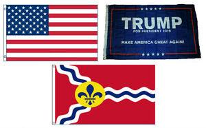 3x5-Trump-1-amp-USA-American-amp-City-of-St-Louis-Wholesale-Set-Flag-3-039-x5-039