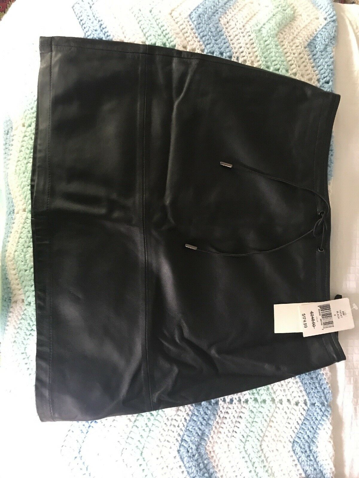 French Connection Leather Skirt Size 6