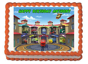 Chuggington Premium Frosting Sheet Edible Cake Topper eBay