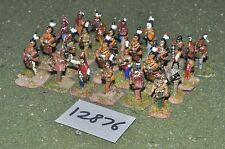 25mm french / indian wars indian warriors 24 figures (12876)