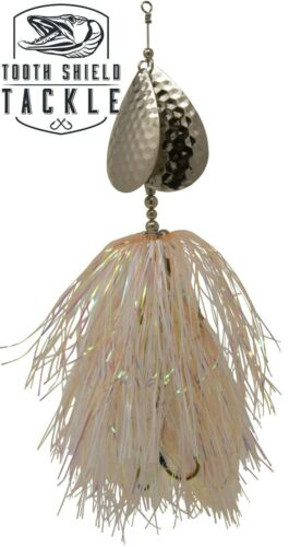 Tooth Shield Tackle Magnum Double 10 Musky Bucktail Muskie Pike Spinners Lures