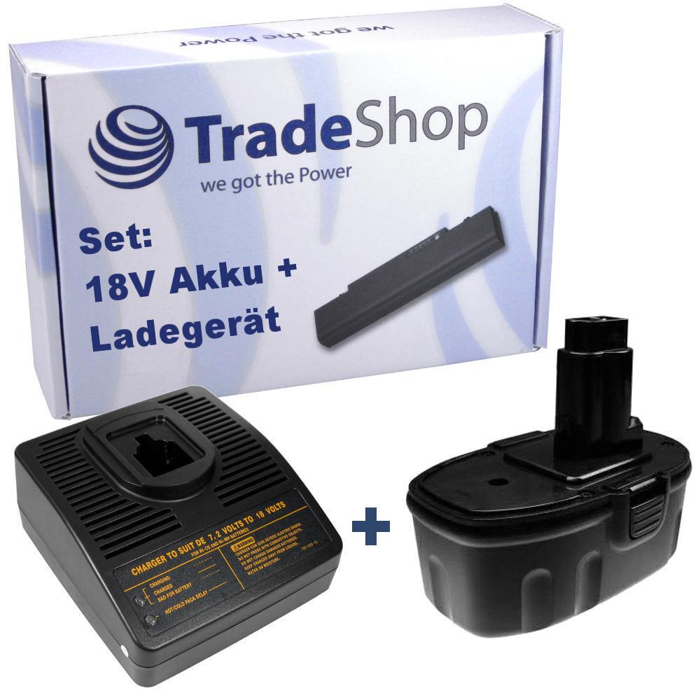 Trade-Shop Premium AKKU 18V 3000mAh + LADEGERÄT für ELU EZWA90 EZWA91