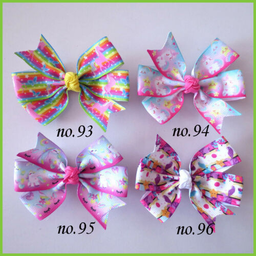 """1000 BLESSING Good Girl 3.25/"""" Abby Hair Bow Clip Unicorn Accessories Wholesale"""