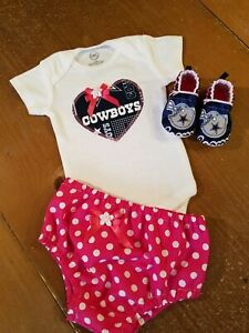 9550e617a Dallas Cowboys Baby Girl 3 Piece Tailgating Outfit Baby Girl Pink 3 ...