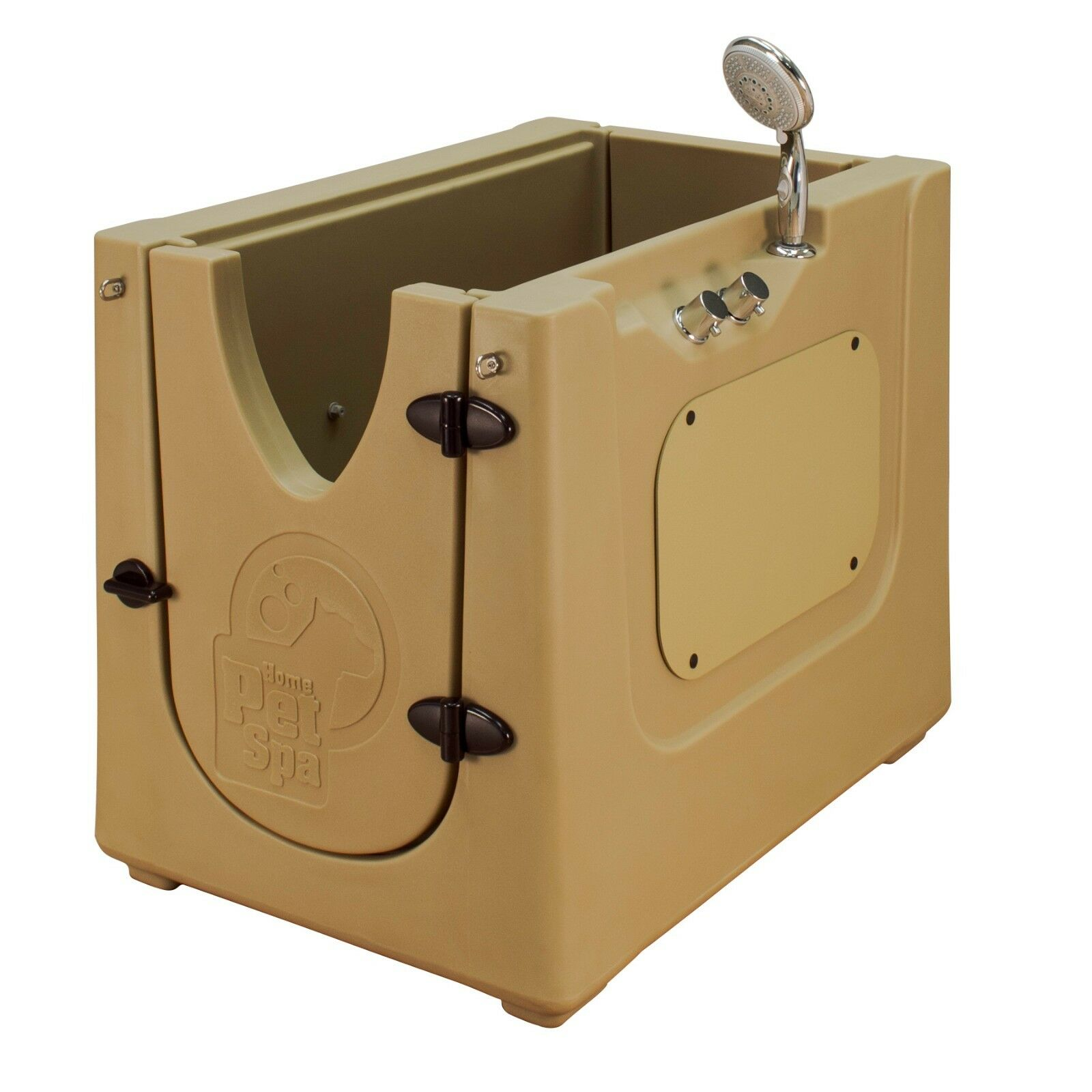 Home Pet Spa  Mobile Pet Dog Washing & Grooming Bath Enclosure in outdoor Mocha