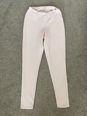 Peach Pink Quilted Jeggings Leggings Trousers Size 12 Leggings Women's Clothing