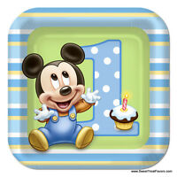 Mickey Mouse Baby Plates Cake 1st First Birthday Decoration Party Supplies Favor