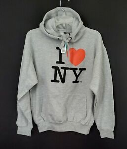 I Love NY New York Hoodie Screen Print Heart Sweatshirt Black Sweatshirt NYC nwt