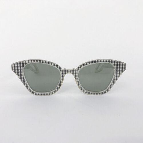 ⭕ 60s Vintage Gingham plaid sunglasses : American
