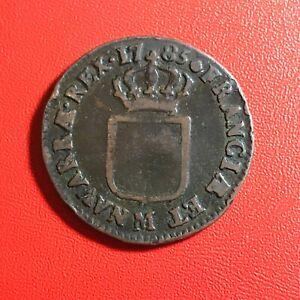 1575-RARE-Louis-XVI-Sol-1785-M-Toulouse-FACTURE