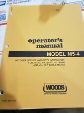 Woods Operators Manual Model M5 4