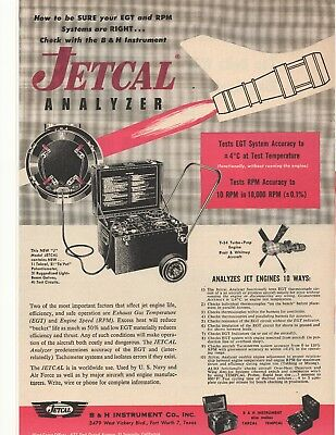 "Merchandise & Memorabilia Texas Able 1956 ""jetcal"" B & H Instrument Advertisement Fort Worth Advertising"