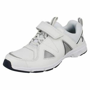 Bianco scuro Blu Boys Clarks Sport Pass Sneakers Bianco Club FxX0w