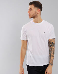 0abc483a9a5e Image is loading Emporio-Armani-Plain-Pima-Cotton-T-Shirt-White
