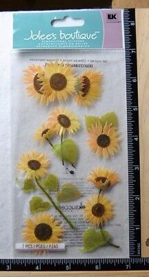 Jolee's SUNNY SUNFLOWERS Boutique Stickers FLOWERS SUNFLOWER