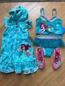 79ae565fe6 Disney Store Ariel Mermaid Tankini Bikini Tutu Swim Cover up size 4 ...