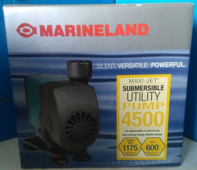 Marineland Submersible Utility Pump 4500 Maxi-Jet Silent Versatile Powerful